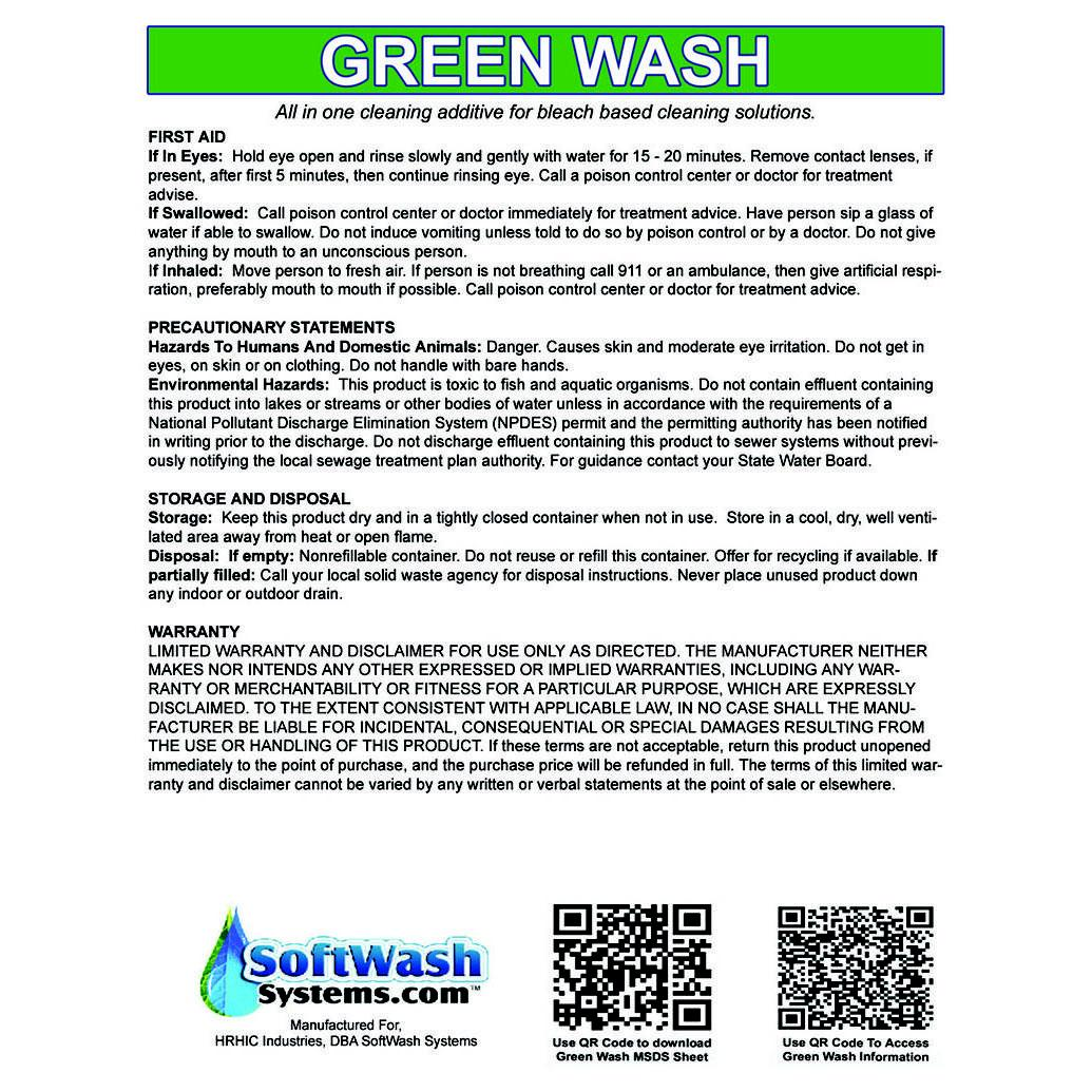 Green Wash 5 Gal