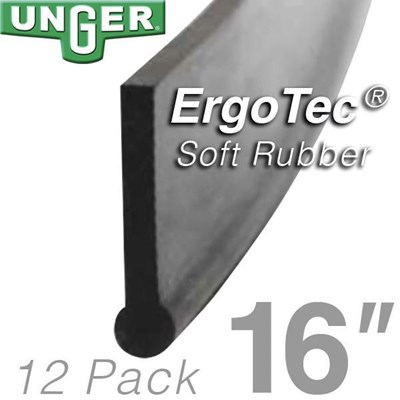 Rubber ErgoTec Soft 16in (12 Pack) Unger