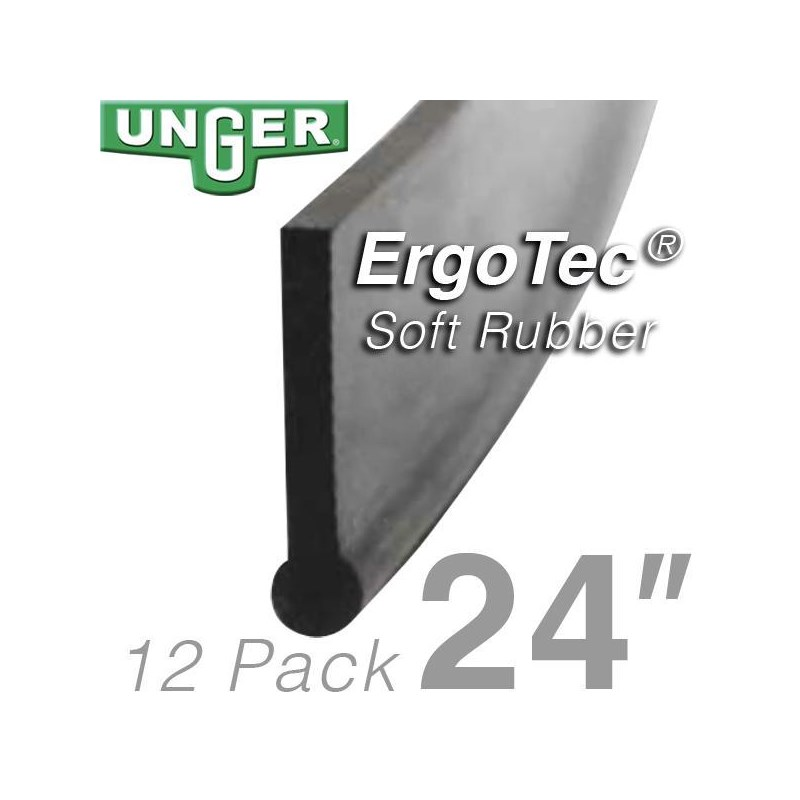 Rubber ErgoTec Soft 24in (12 Pack) Unger