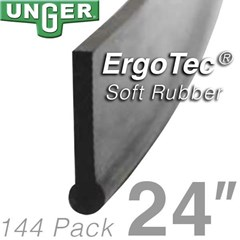 Rubber ErgoTec Soft 24in (144 Pack) Unger