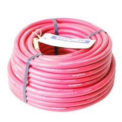 Hose 1/4in 100ft Red Rubber with GH Fittings
