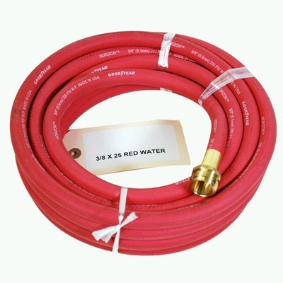Hose 3/8in 25ft Red Rubber
