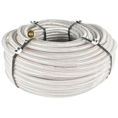 Hose 3/8in Clear Braided