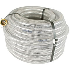 Hose 5/8in 100ft Clear Braided