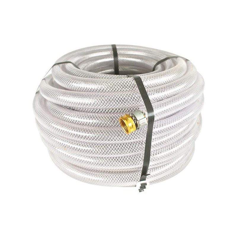 Hose 3/4in 100ft Clear Braided