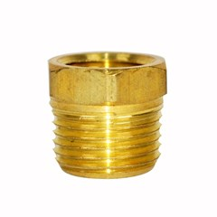 Bushing Hex 1/2in X 3/8in Brass