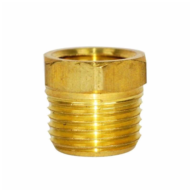 Bushing Hex 1/2in X 3/8in Brass