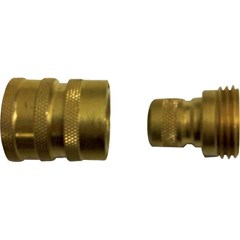 Quick Connects Garden Hose Brass M/F Set