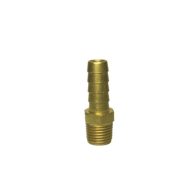 """Hose Barb 3/8"""" to 1/4"""" Male pipe"""