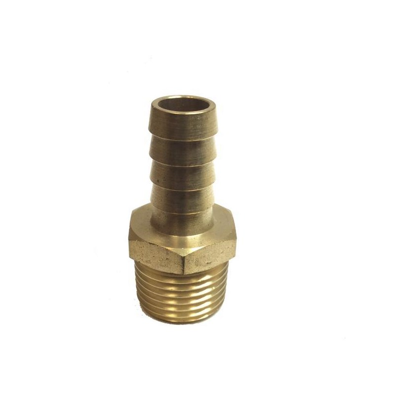 Hose Barb 1/2in to 3/4in Male Pipe