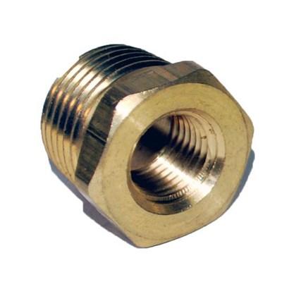 Bushing Hex Brass 1/2in X 1/4in