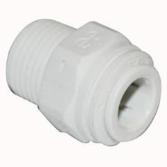 Male Connector NPTF PolyPro 1/2inx3/8in