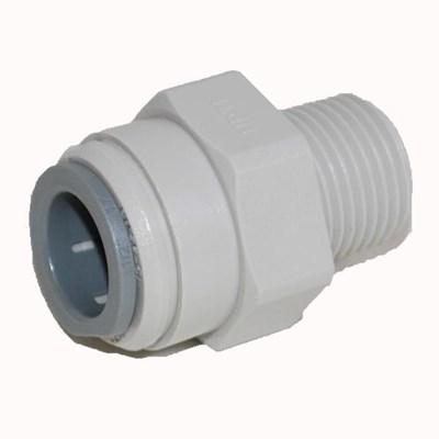 Male Connector 1/2 Pushfit x 3/8 MNPT