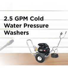 2.5 GPM Cold Water Pressure Washer