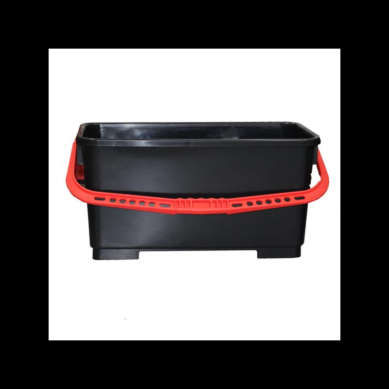 Bucket Black w/Red Handle Pulex