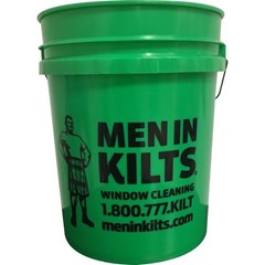 Bucket Men in Kilts Green 5 Gal Round