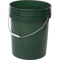 Bucket Green 5Gal Round