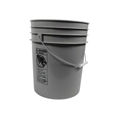 Bucket Grey 5Gal Round Matt Finish
