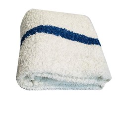 Towel Terry 24 x 50 ea White/blue stripe