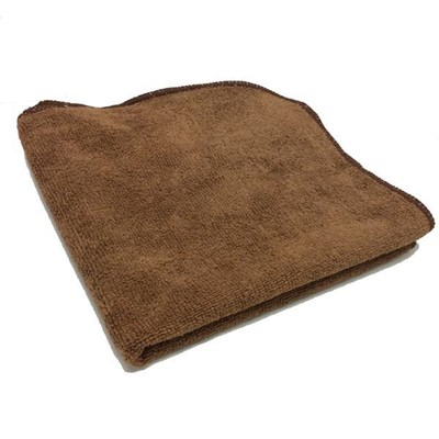 Towel Microfiber Brown 16x16 Pro