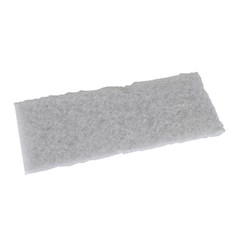 Scrub Pad White 8in Unger