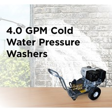 4.0 GPM Cold Water Pressure Washers