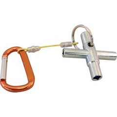 Water Key 4 Way with carabiner