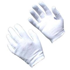 Gloves White Cotton Inspection (12 Pack)