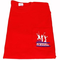 T-Shirt w/ Pocket 3 Dudes Red