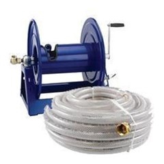 Reel w/100ft 1/2in Clear Braid Hose Cox