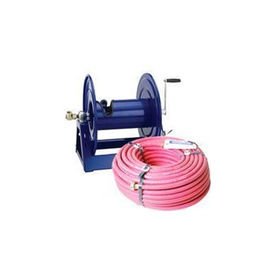 Reel w/100ft 1/2in Red Hose Cox