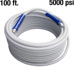 Hose PW 100ft 5000psi 250dg 2W Gray w/QC