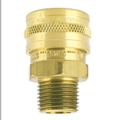 Coupler Brass QC 1/4in MPT