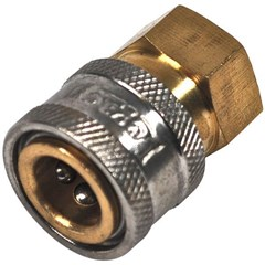 Coupler 1/4in PW Brass FPT