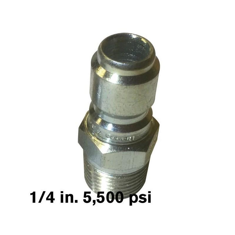 Plug 1/4 MPT SS 5500psi Hansen