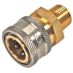 Coupler 3/8in PW Steel/Zinc MPT