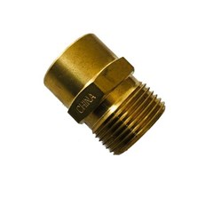 M22 Male to 3/8in Female NPT Brass