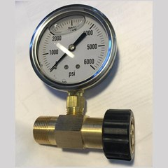 M22 Pressure Gauge 0 to 6000PSI Brass