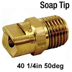 40 Nozzle Brass 1/4in 50deg SoapTip 4050