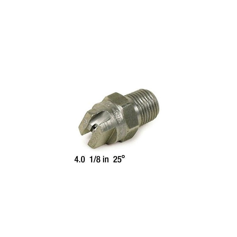 4.0 Nozzle SS 1/8in 25deg 25 04