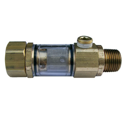 Inlet Water Filter Assembly 1/2in w1/4in Bypass
