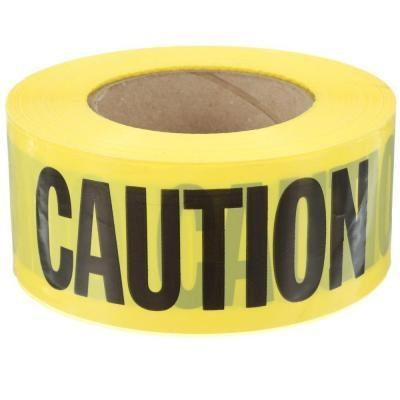 Caution Tape 1000ft Yellow