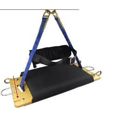 Chair 2point padded w/belt&adj strap Sky