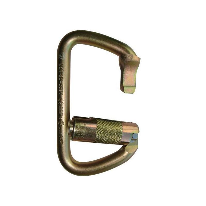 Carabiner Large D Steel Triple Lock