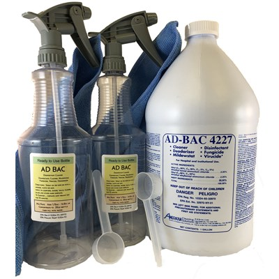 Ad-Bac Disinfectant Kit with 2 Sprayers 32oz Ready to Use
