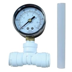 InLine Water Pressure Gauge Kit Pushfit 1/2in