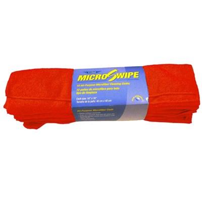MicroSwipe Towel 16x16 Red (10) Ettore