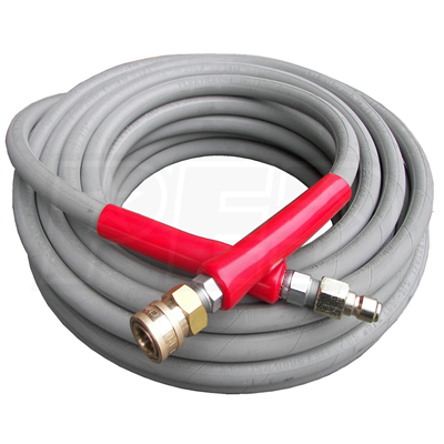 Hose Flextral Gray 100ft 6000psi 2 Wire w/QC Pressure Washing