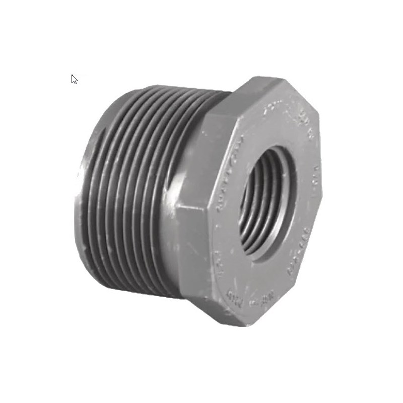 Reducing Bushing 1in MPT to 1/2in FPT PVC Schedule 80