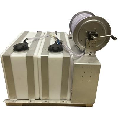Skid Sprayer 50 ga Batch 50ga Storage Tanks with 300ft hose